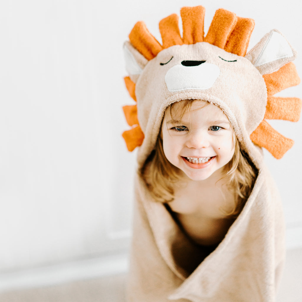 Bamboo Lion Hooded Towel for Kids - Natemia
