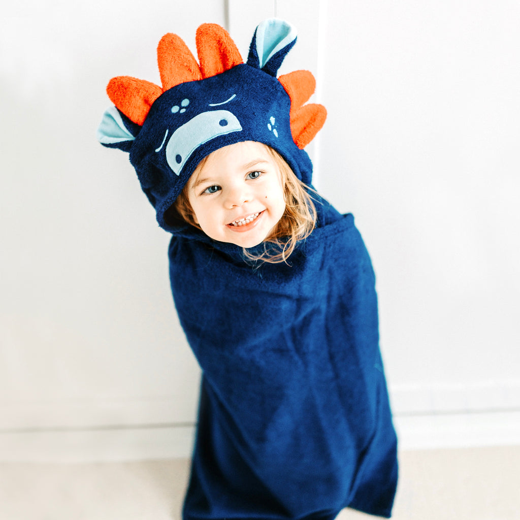 Dinosaur Bamboo Hooded Towel for Kids - Natemia