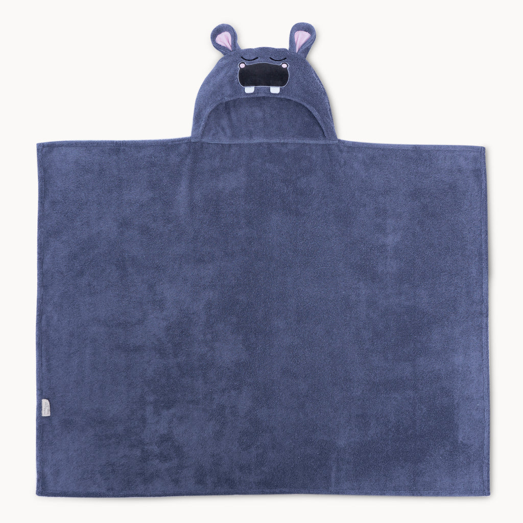 Bamboo Hippo Hooded Towel for Kids - Natemia