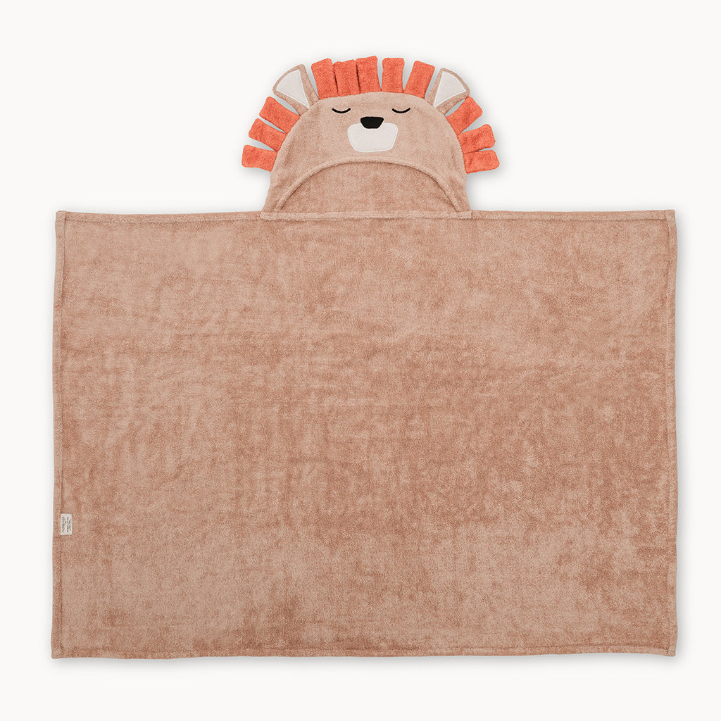 Lion Bamboo Hooded Towel for Kids