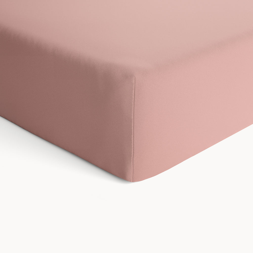 Organic Cotton Fitted Crib Sheet - Misty Rose - Natemia