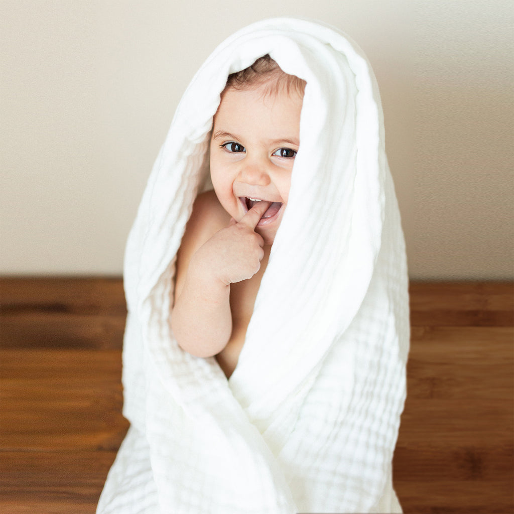 Multi Use 6 Layer Muslin Bamboo Baby Towel and Blanket