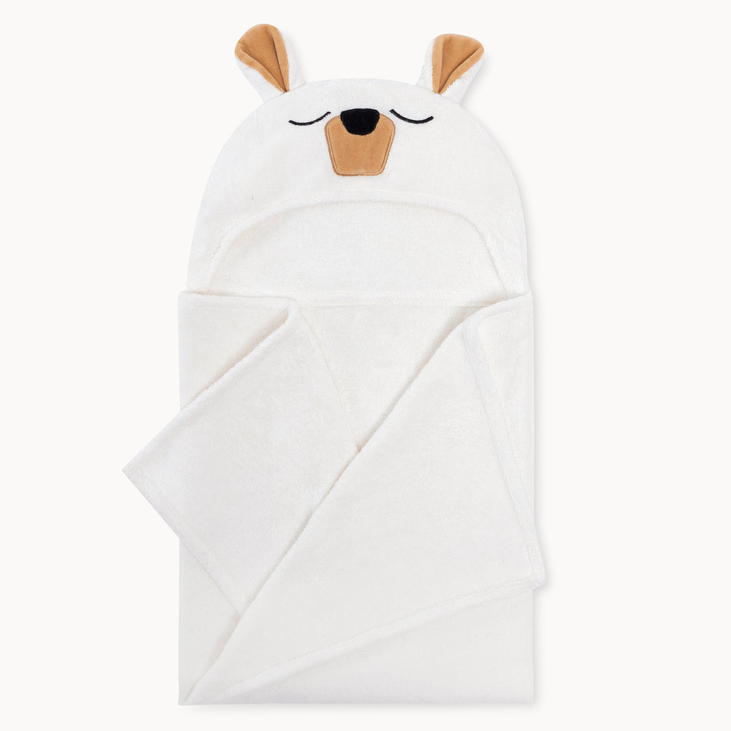 Polar Bear Bamboo Hooded Towel for Kids - Natemia