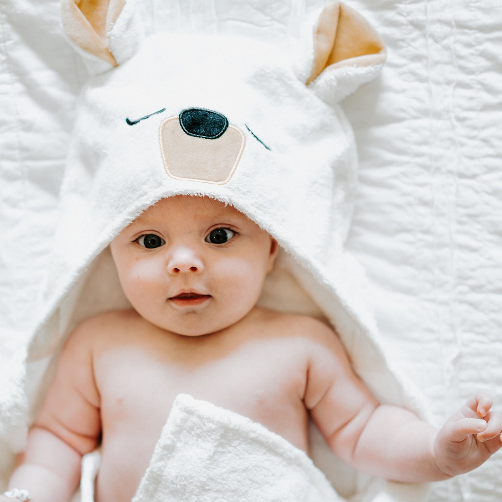 Polar Bear Bamboo Hooded Towel for Kids