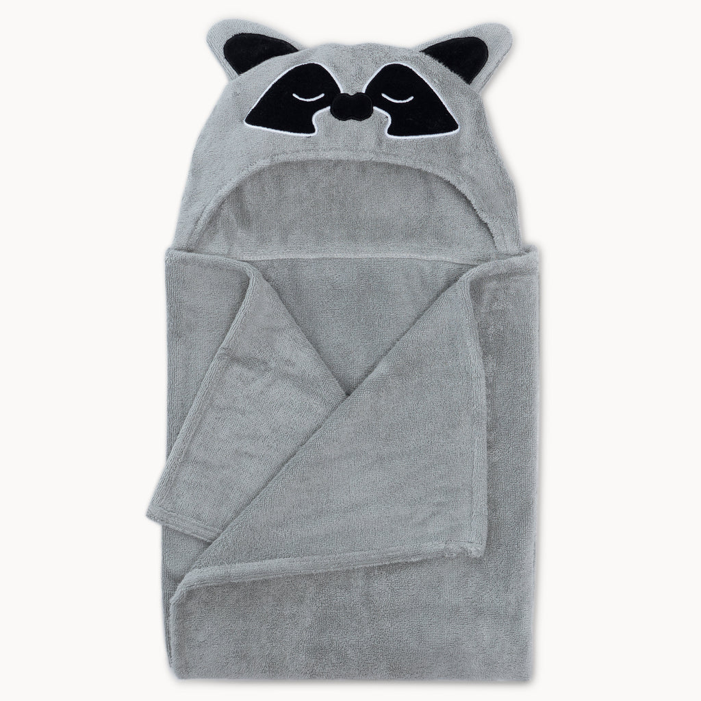 Raccoon Bamboo Hooded Towel for Kids - Natemia