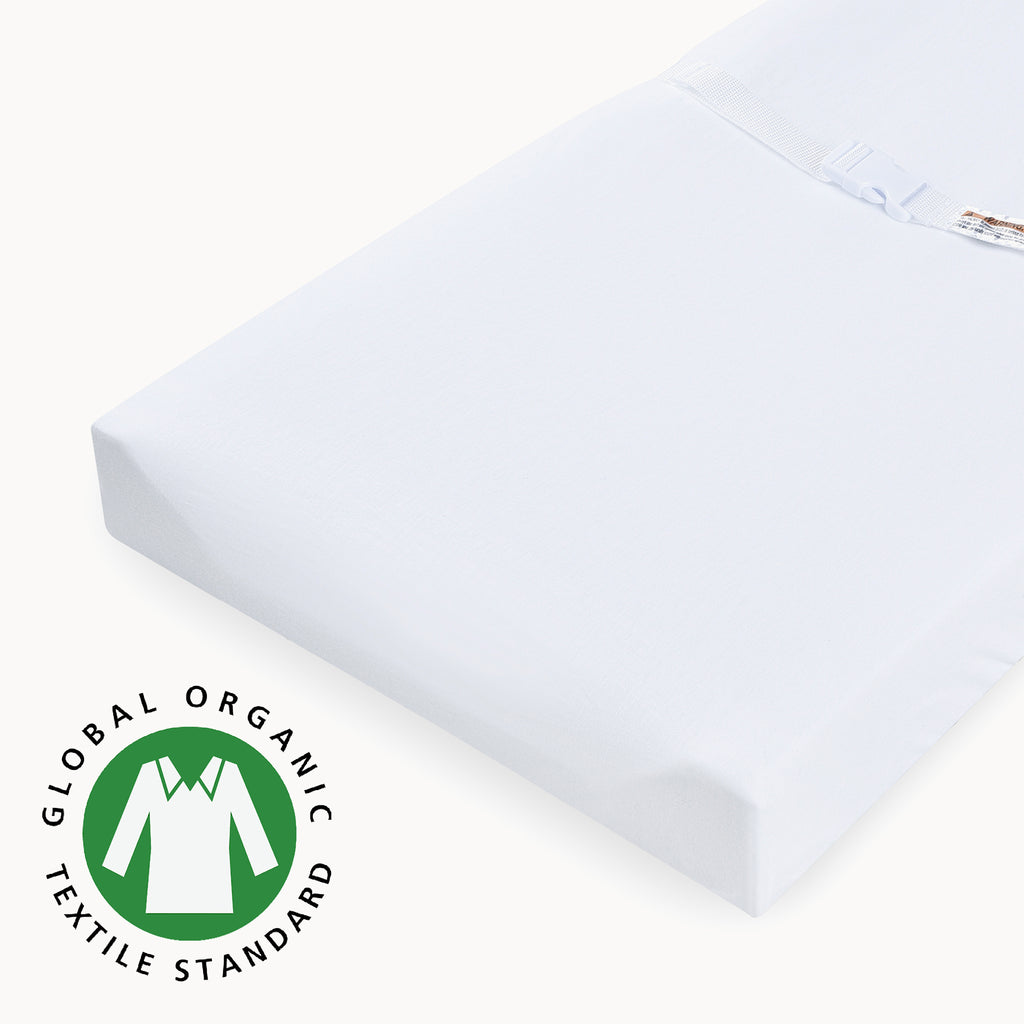 2 Pack Organic Cotton Changing Pad Covers - White - Natemia