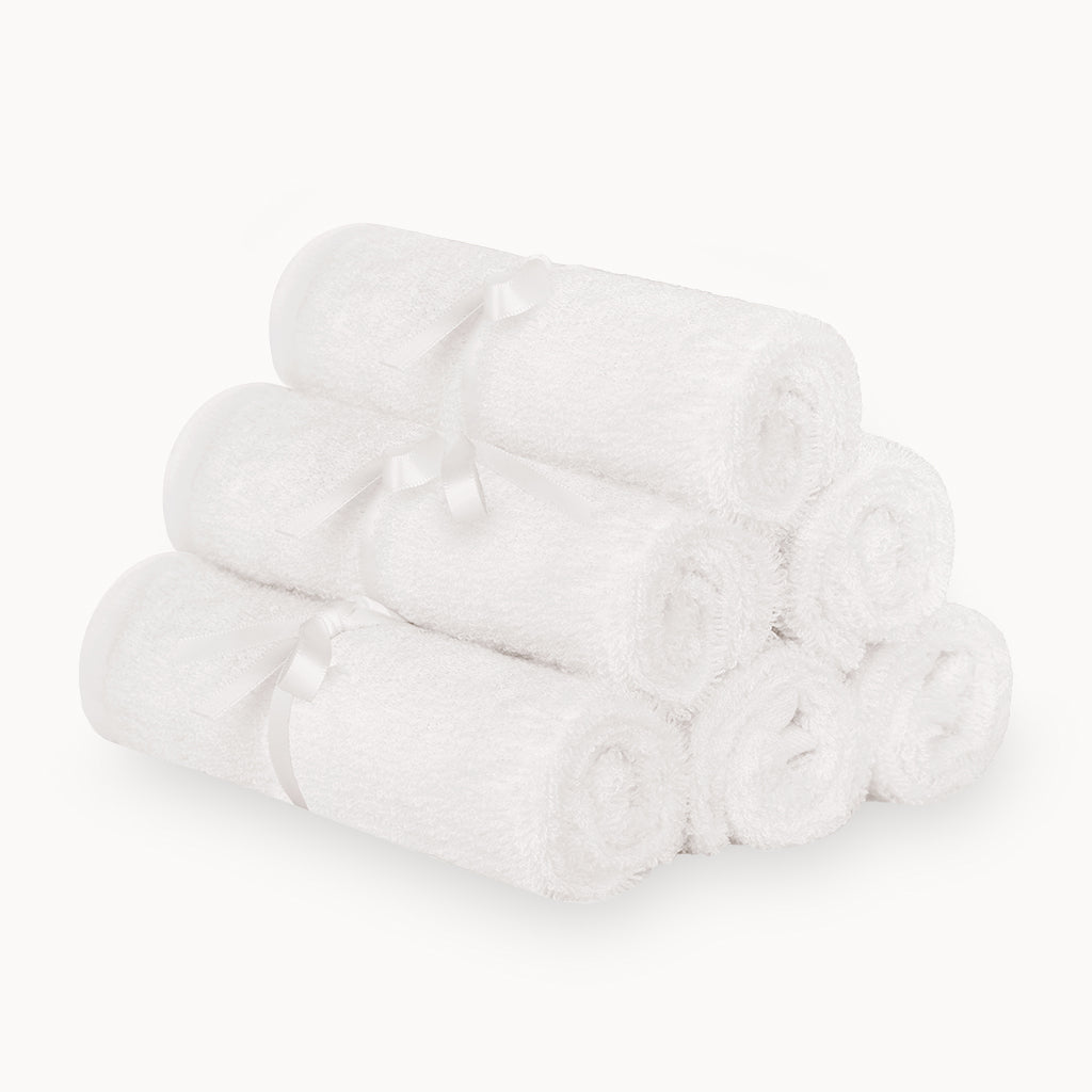 Ultra Soft Bamboo Washcloths in White - 6 Pack