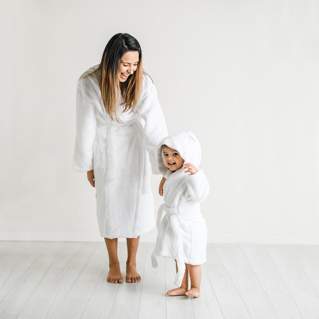 Organic Cotton Bathrobes for Adults in White