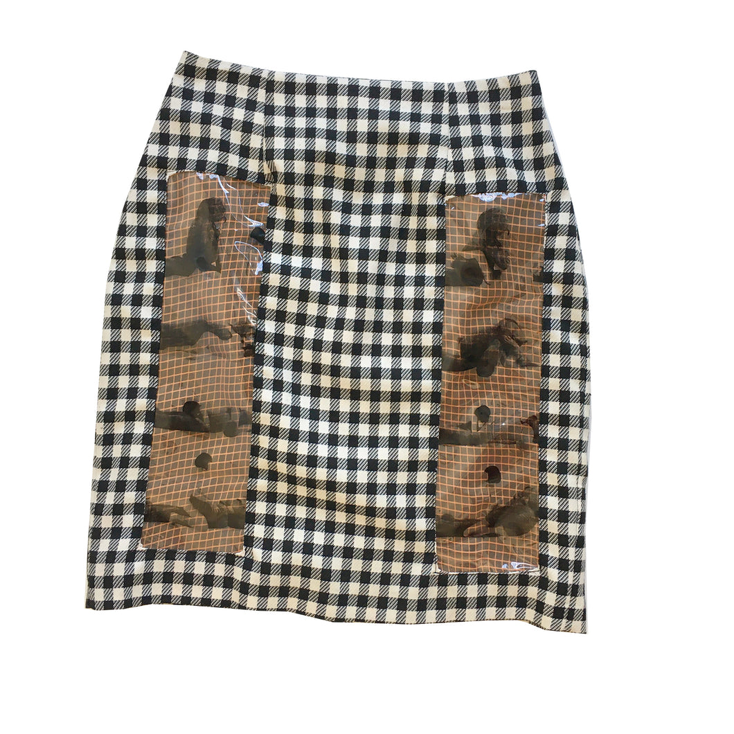 PLAID SEX PENCIL SKIRT - SIZE 6