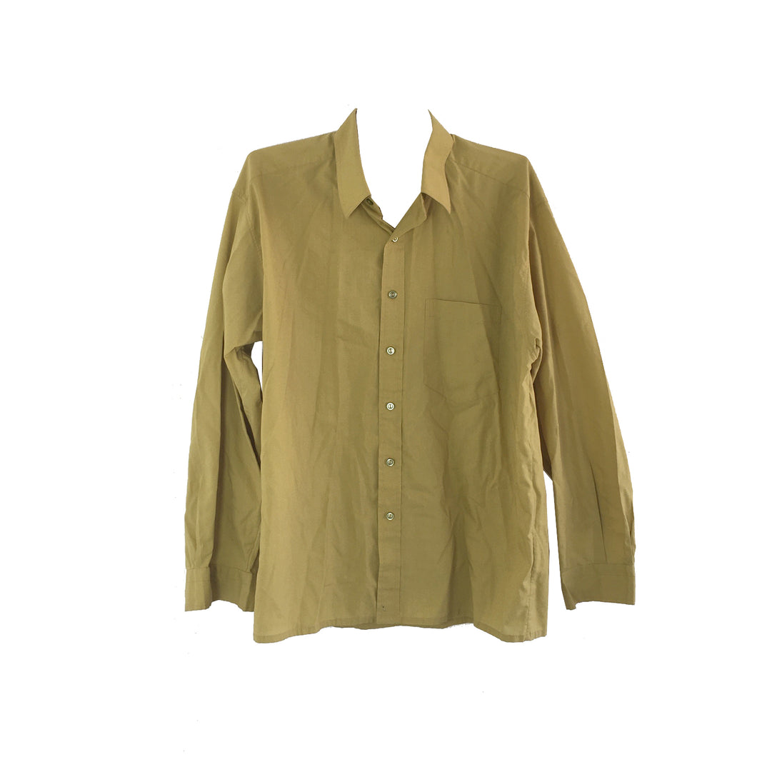 OLIVE BUTTON DOWN - LARGE