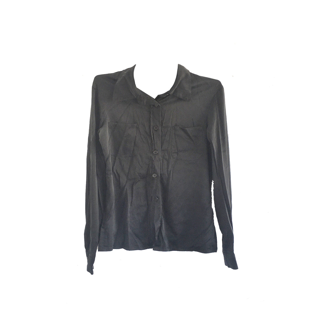 PERFECT 90'S SILK BLOUSE - SMALL