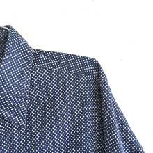 POLKA-DOT BUTTON DOWN - LARGE