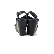 LEATHER POWER WEDGES - SIZE 6.5 (WOMEN'S US)