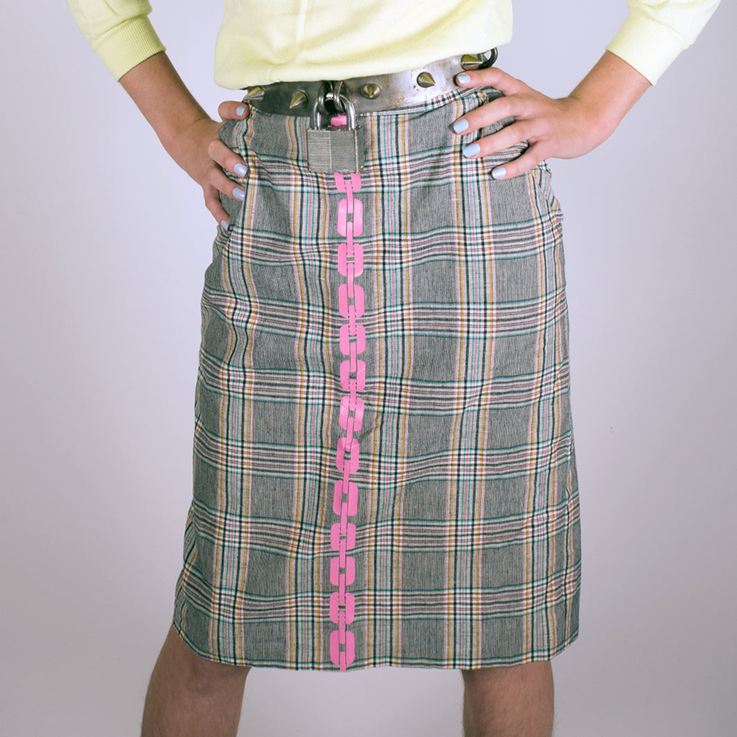 SALE - PLAID PENCIL SKIRT - SIZE 8