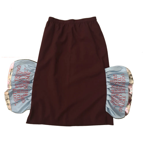 1/1 BURGUNDY BUTTERFLY SKIRT - SIZE 10/11