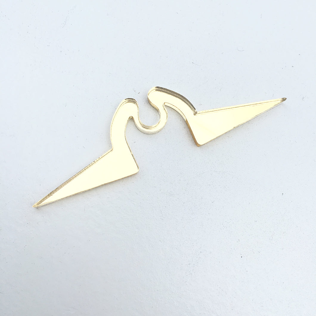 SPIKE SEPTUM RING (CLIP-ON) - GOLD, SILVER, CLEAR & BLACK