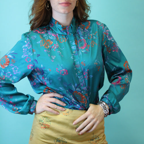 FANCY PJ BLOUSE - M/L