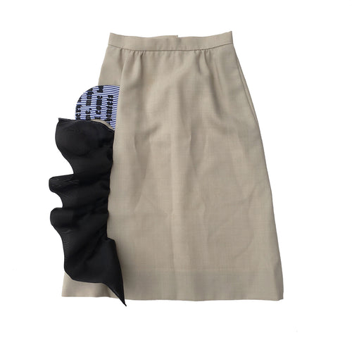 1/1 SAFARI RUFFLE SKIRT - SIZE 4