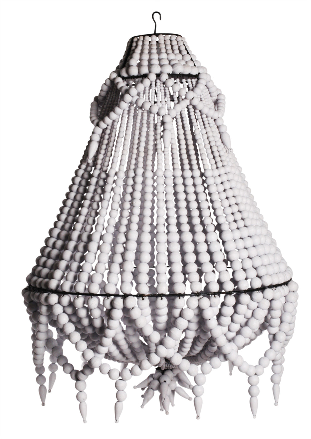 White Beaded Chandelier