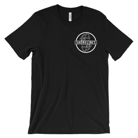 Shorelines Waves Tee Black | Navy