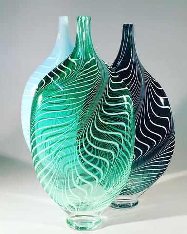 Leaf Vases by Ryan Bavin