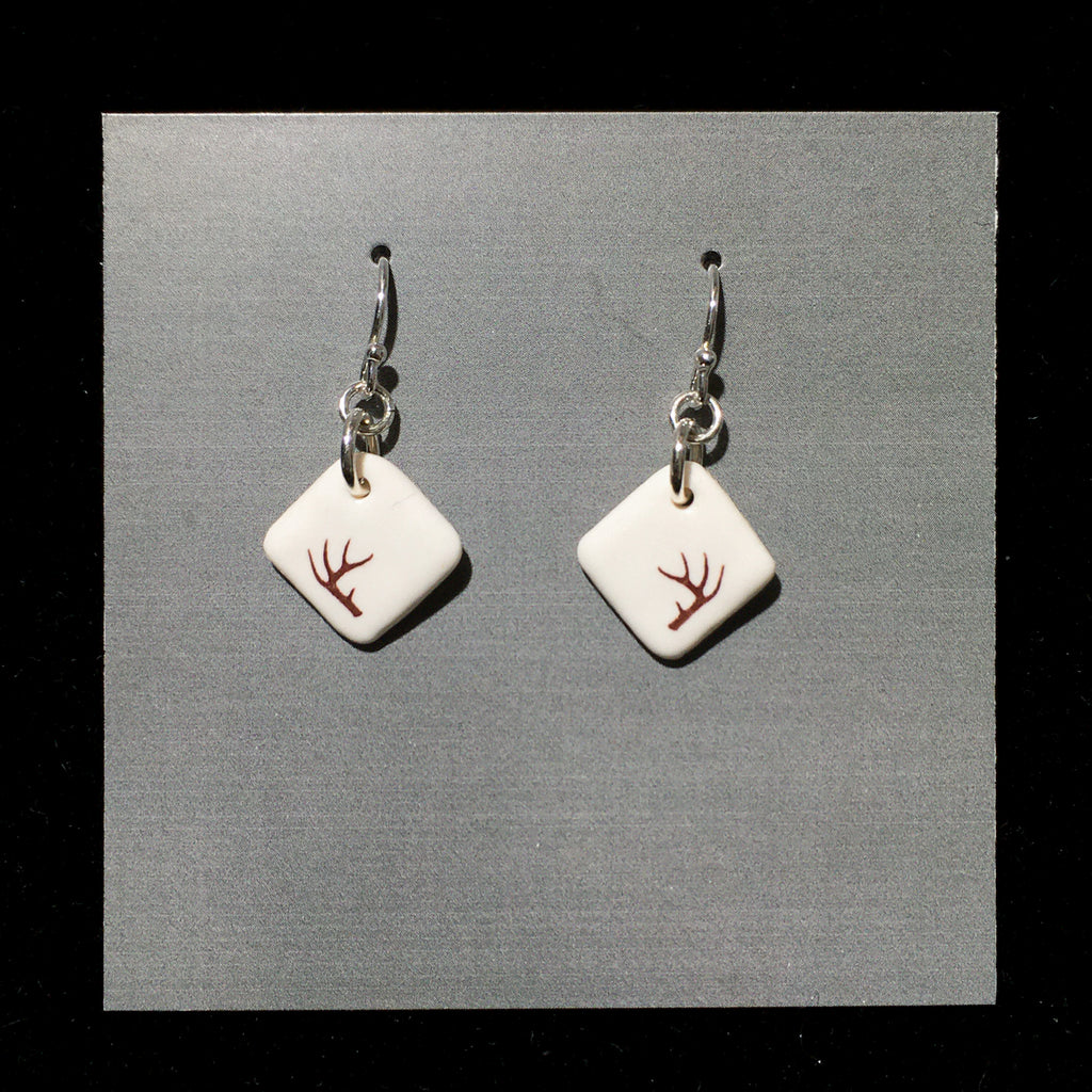 Porcelain Antler Earrings - [ST7018]
