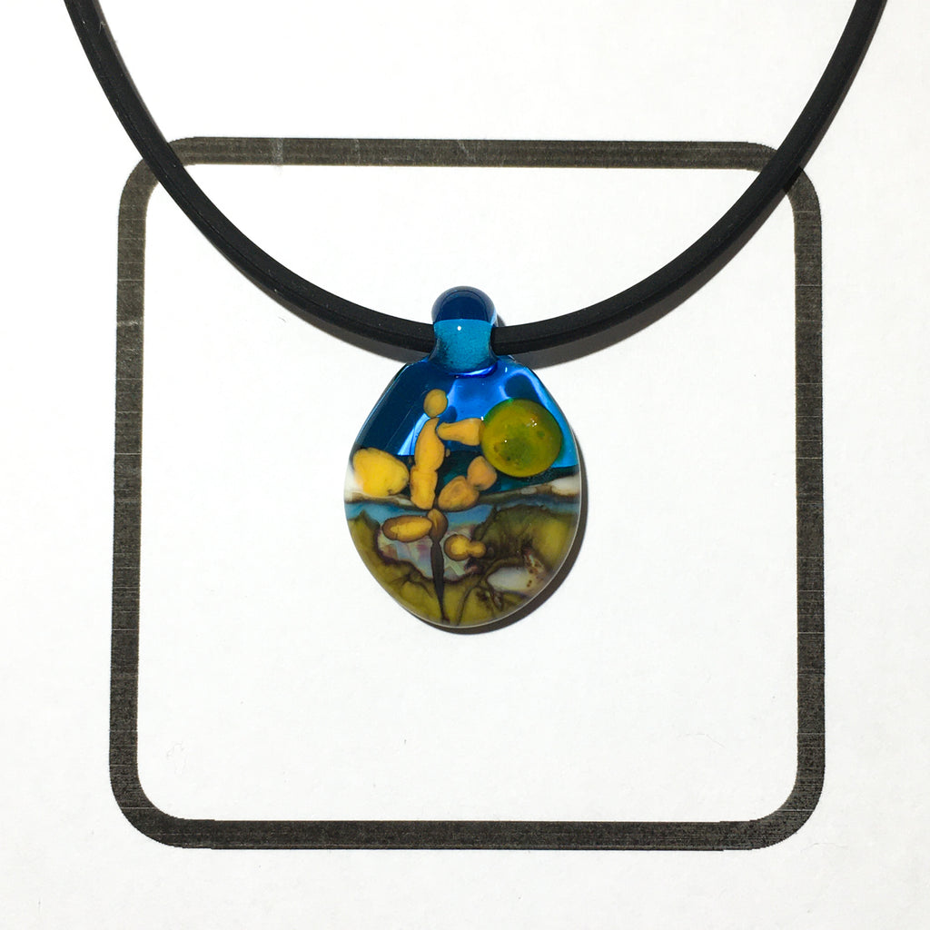 Glass Landscape Necklace - [#TNN005]