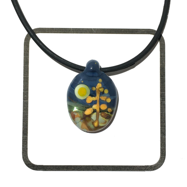 Glass Landscape Necklace - [#2011]