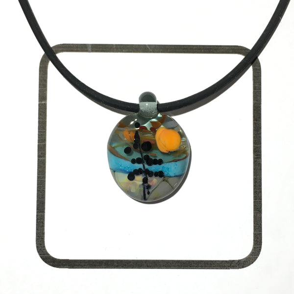 Glass Landscape Necklace - [#2004]