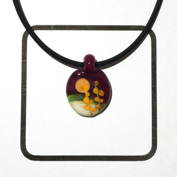 Glass Landscape Necklace - [#TNN009]