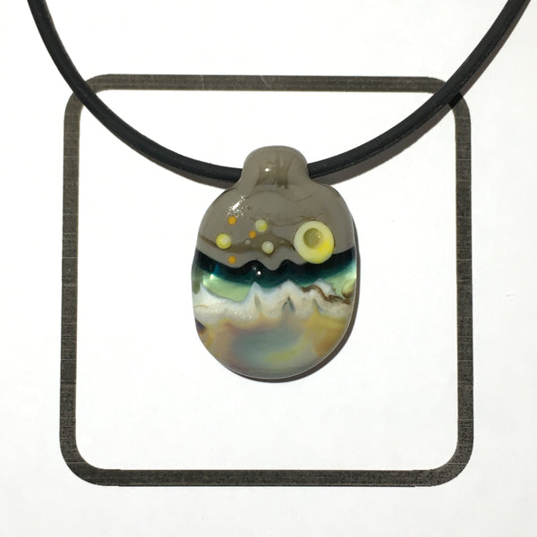 Glass Landscape Necklace - [#2018]