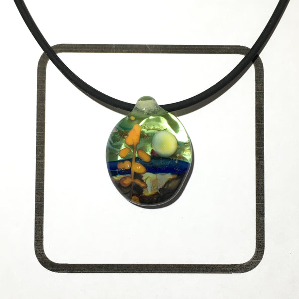 Glass Landscape Necklace - [#2009]