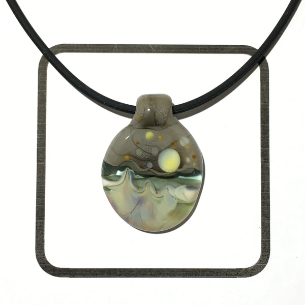 Glass Landscape Necklace - [#2012]