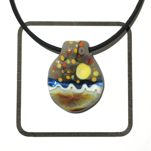 Glass Landscape Necklace - [#2016]