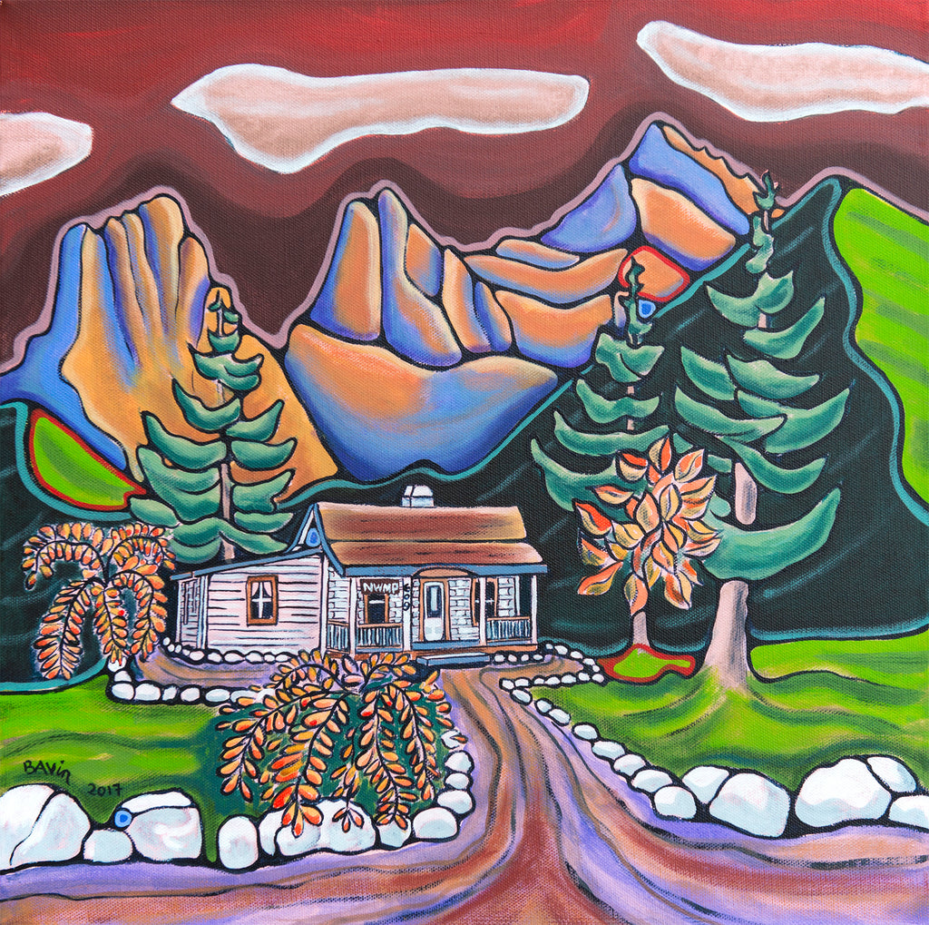NWMP Barracks, Canmore - Original Painting