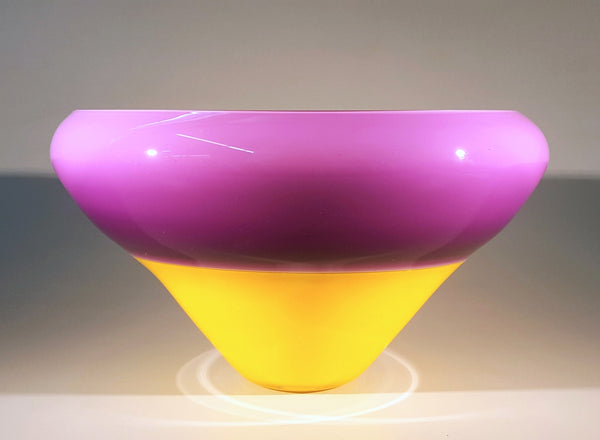 Saturn Bowl - Purple and Yellow