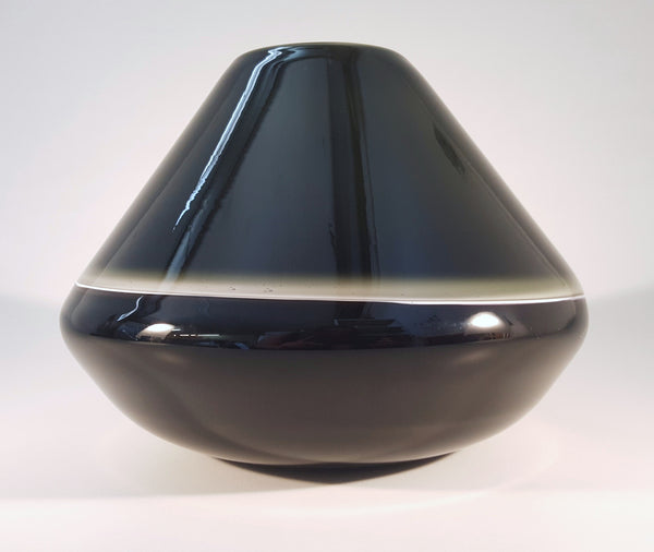 Saturn Vase - Dark Grey and Black
