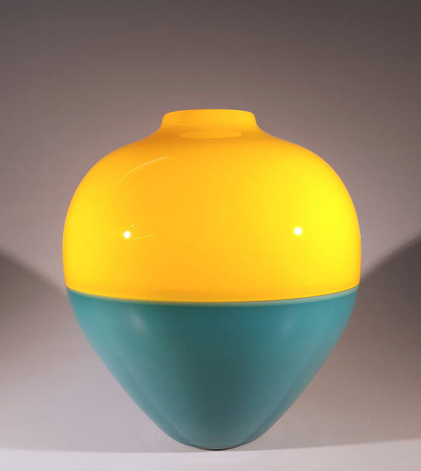 Saturn Vase - Gold and Teal