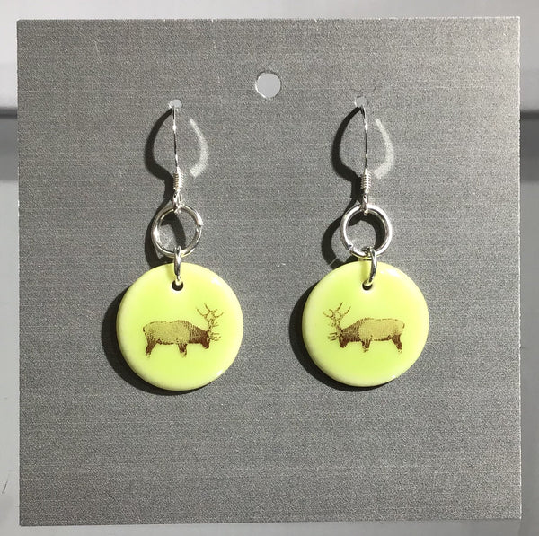 Porcelain Elk Earrings - [ST016]