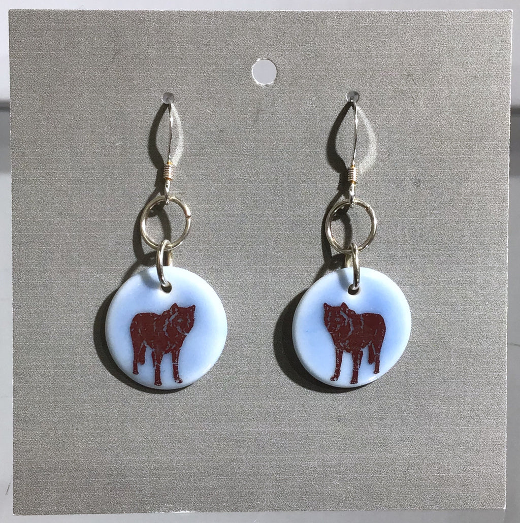 Porcelain Wolf Earrings - [ST003]