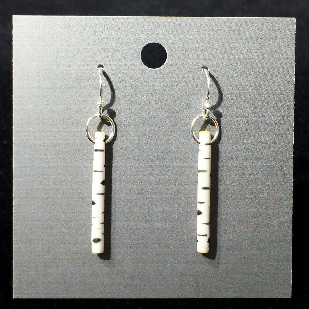 Porcelain Birch Trunk Earrings - [ST032]