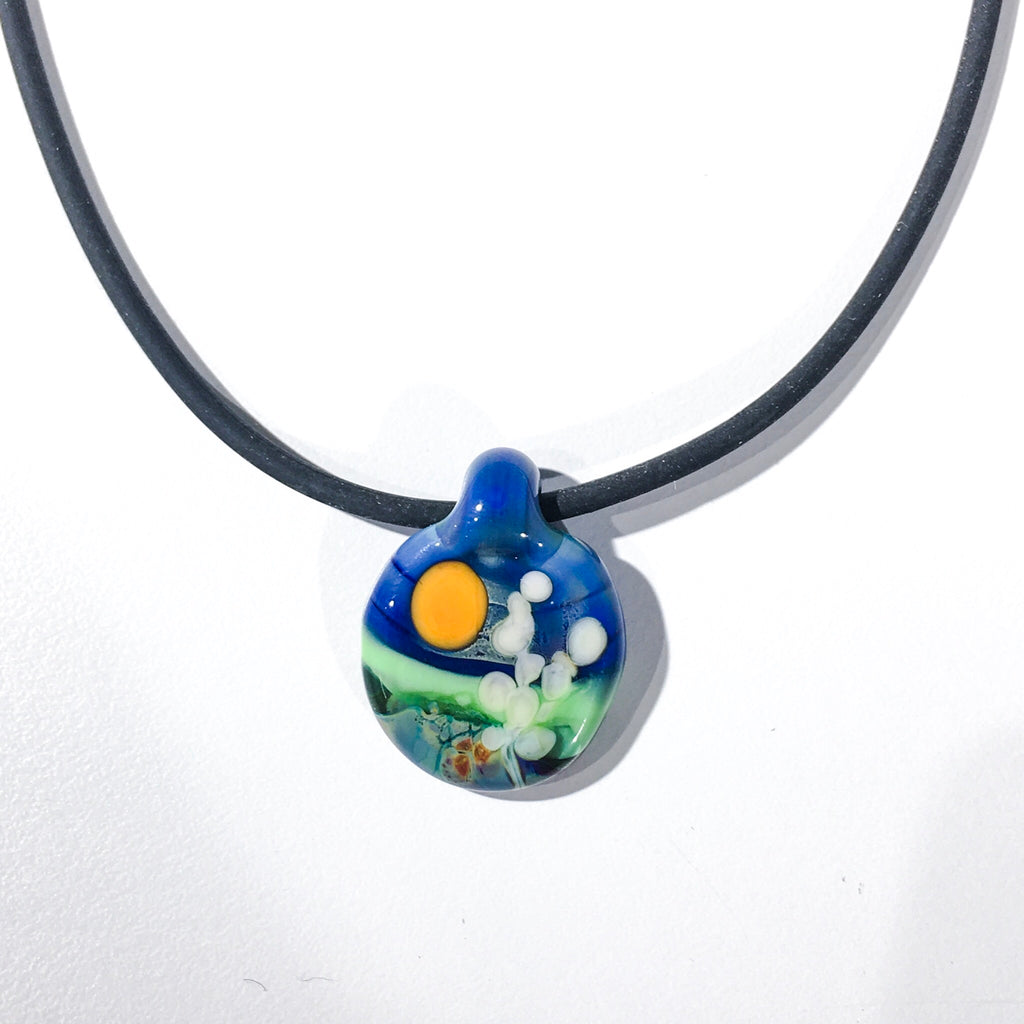 Glass Landscape Necklace - [#TNN010]