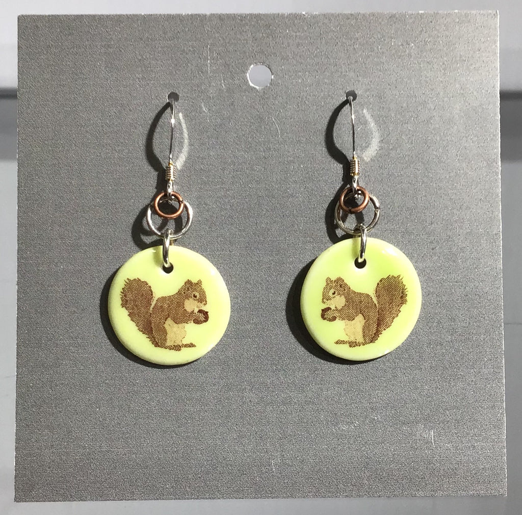 Porcelain Squirrel Earrings - [ST004]