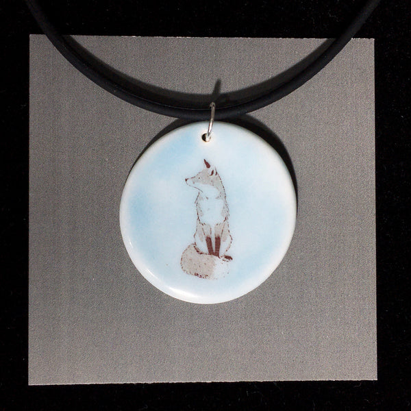 Porcelain Fox Necklace - [STN034]