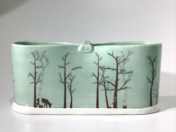 """Winter Forest"" - Shawna T. Porcelain Vase [STV004]"