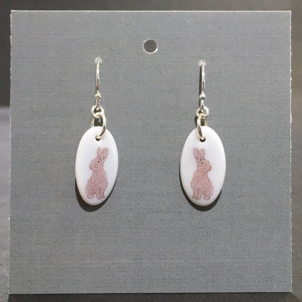 Porcelain Bunny Earrings - [ST007]