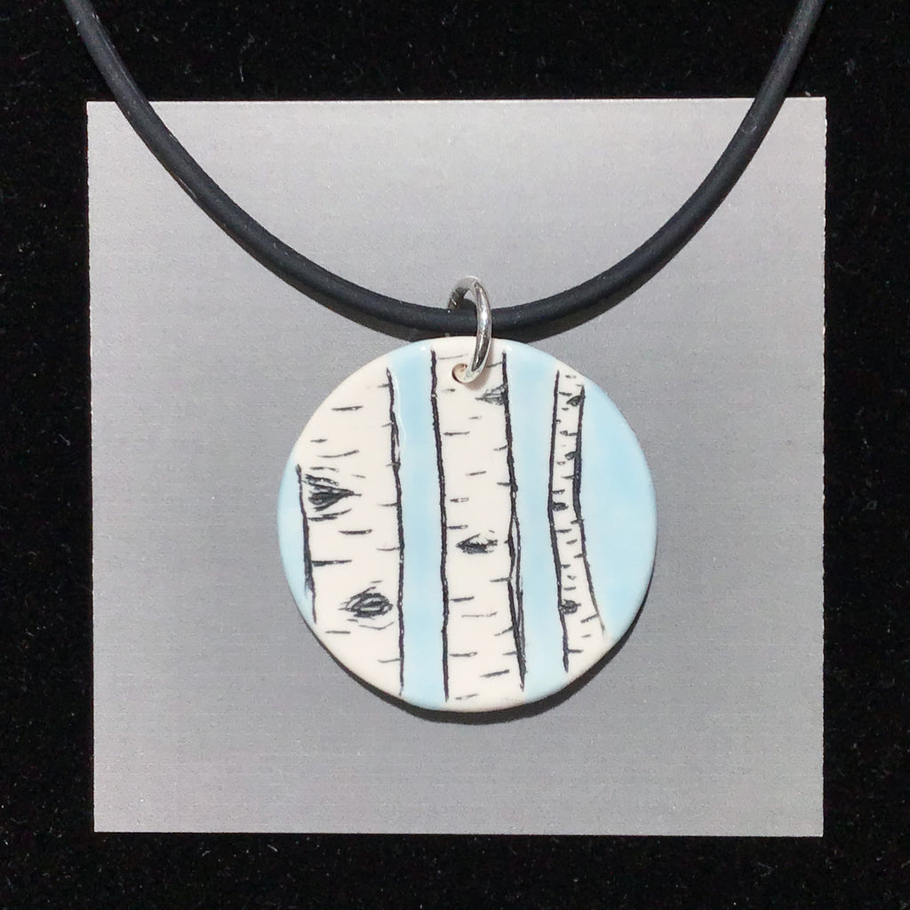 Porcelain Birch Forest Necklace - [#ST4004]