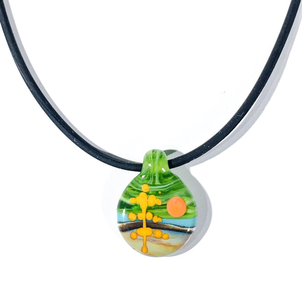 Glass Landscape Necklace - [#TNN007]