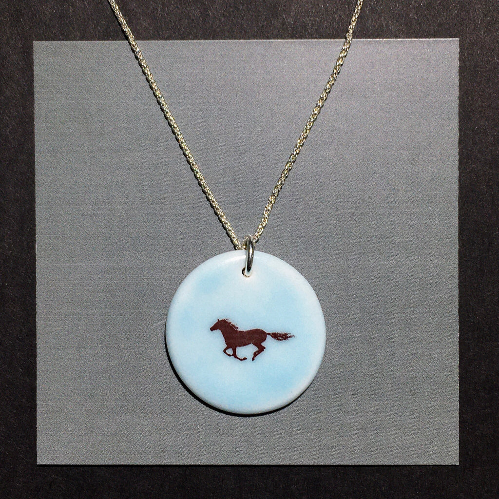 Porcelain Horse Necklace - [STN027]