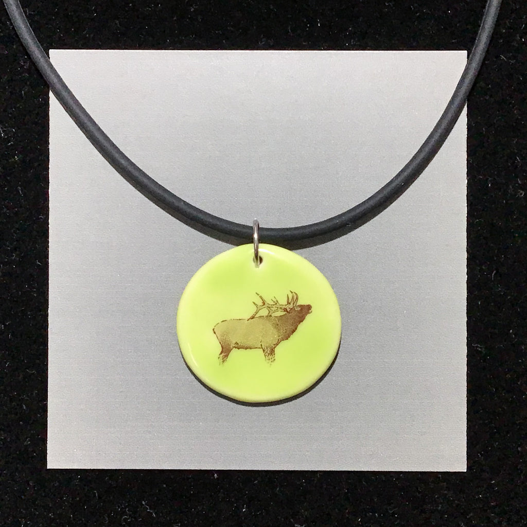 Porcelain Elk Necklace - [#ST4008]